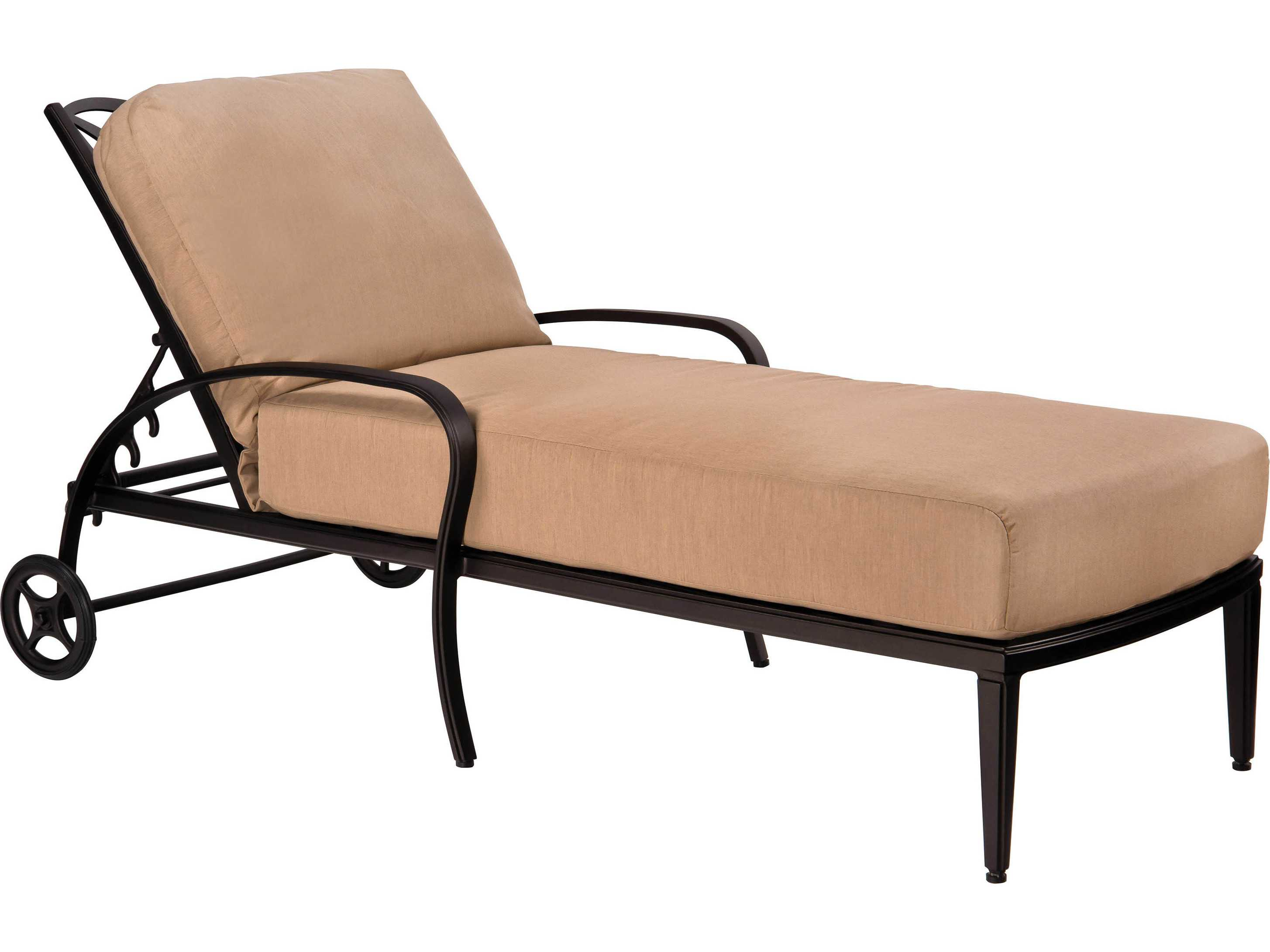 Woodard apollo aluminum chaise lounge 7u0470 for Aluminum outdoor chaise lounge