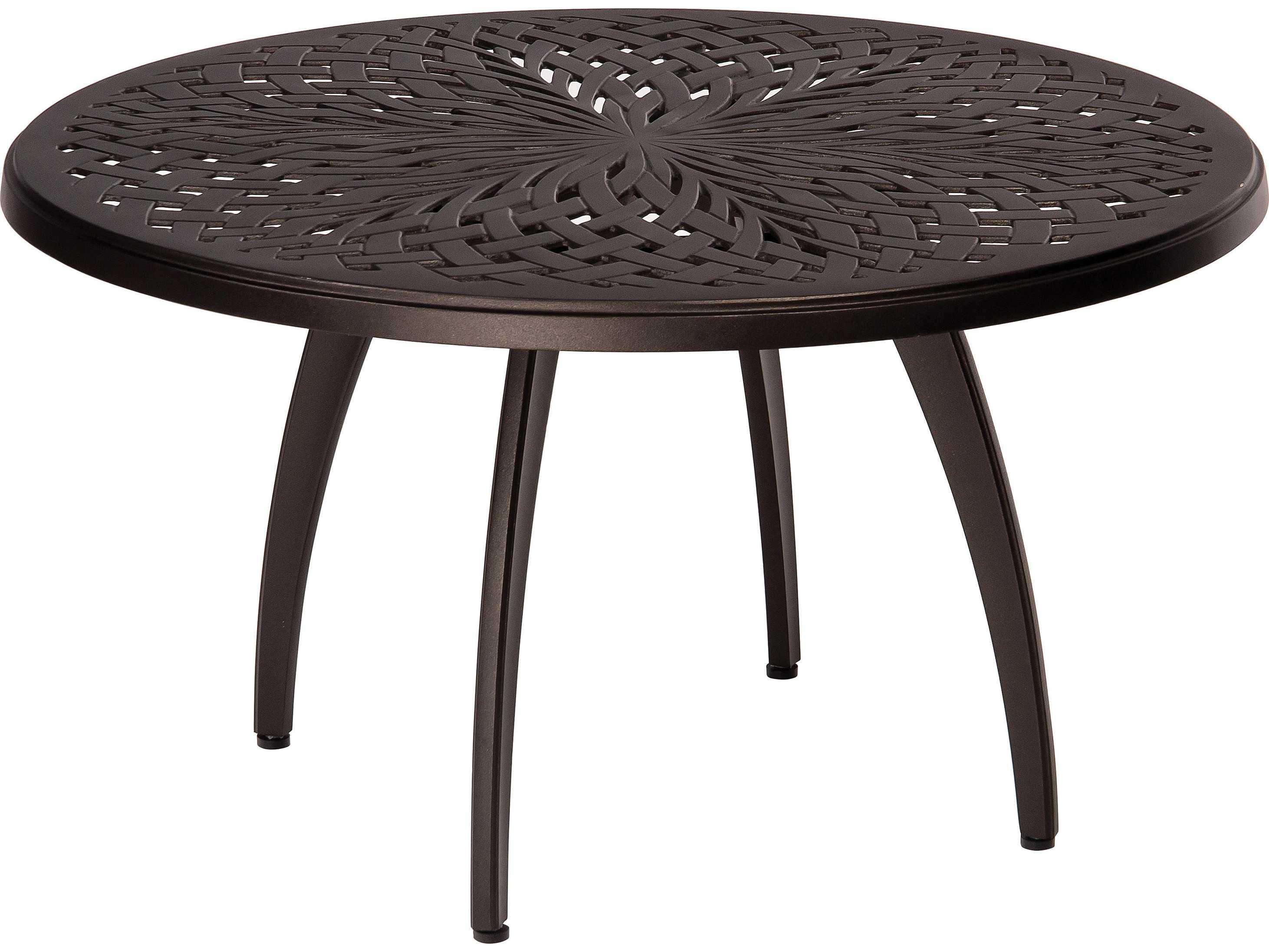 Woodard Apollo Aluminum 36 Round Coffee Table 7u54bt
