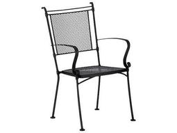 Woodard Bradford Mesh Wrought Iron Chair Stackable 7x0001