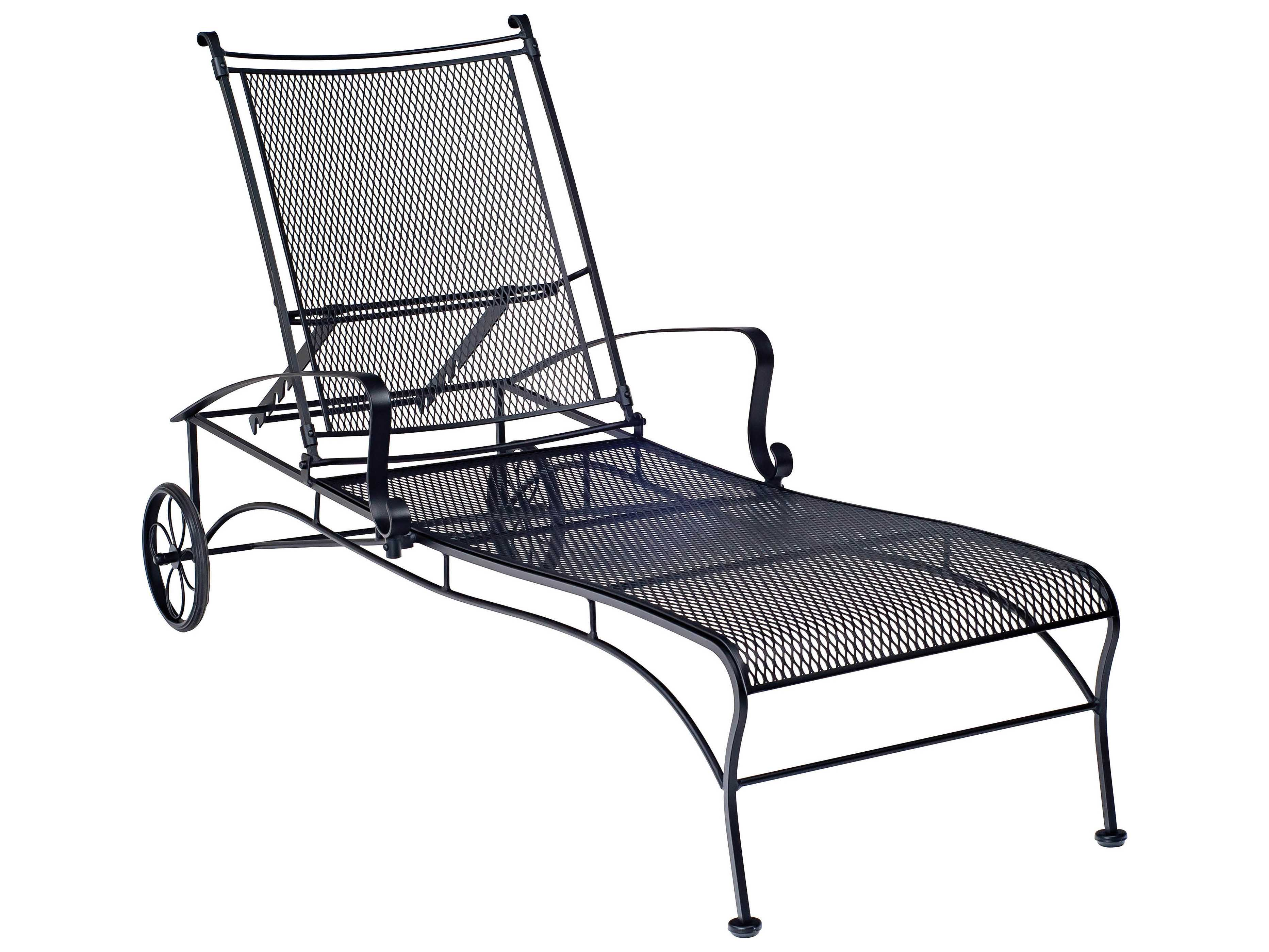 Woodard bradford adjustable chaise 7x0070 for Cast iron chaise lounge