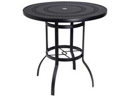 Woodard Deluxe Aluminum 42 Round Bar Height Table Trellis Top