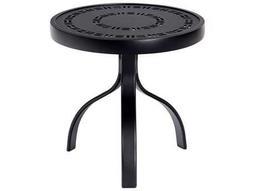Woodard Deluxe Aluminum 18 Round Trellis Top End Table