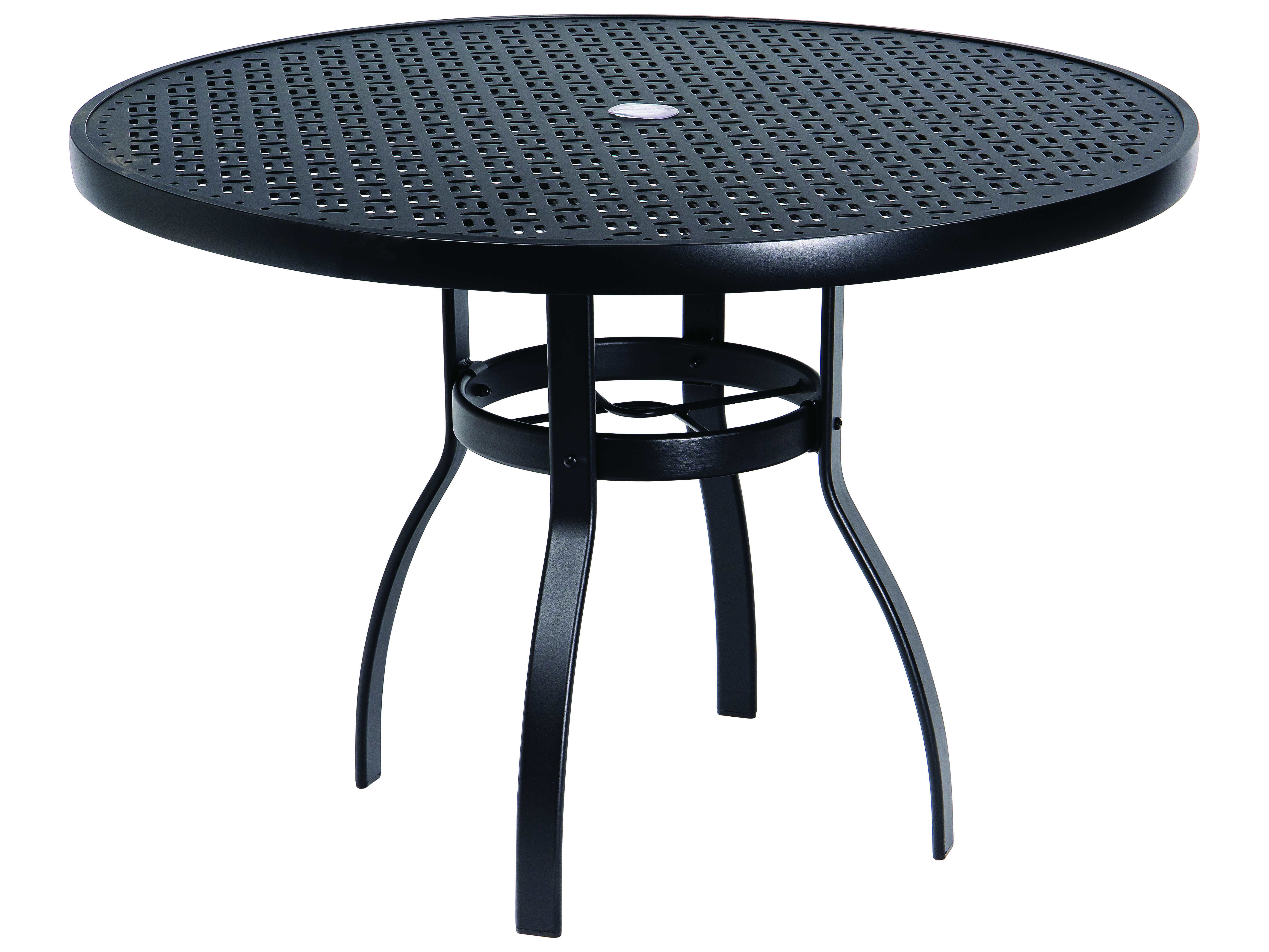 Woodard Deluxe Aluminum 42 Round Lattice Top Table With