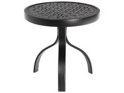 Woodard Deluxe Aluminum 18 Round End Table Lattice Top