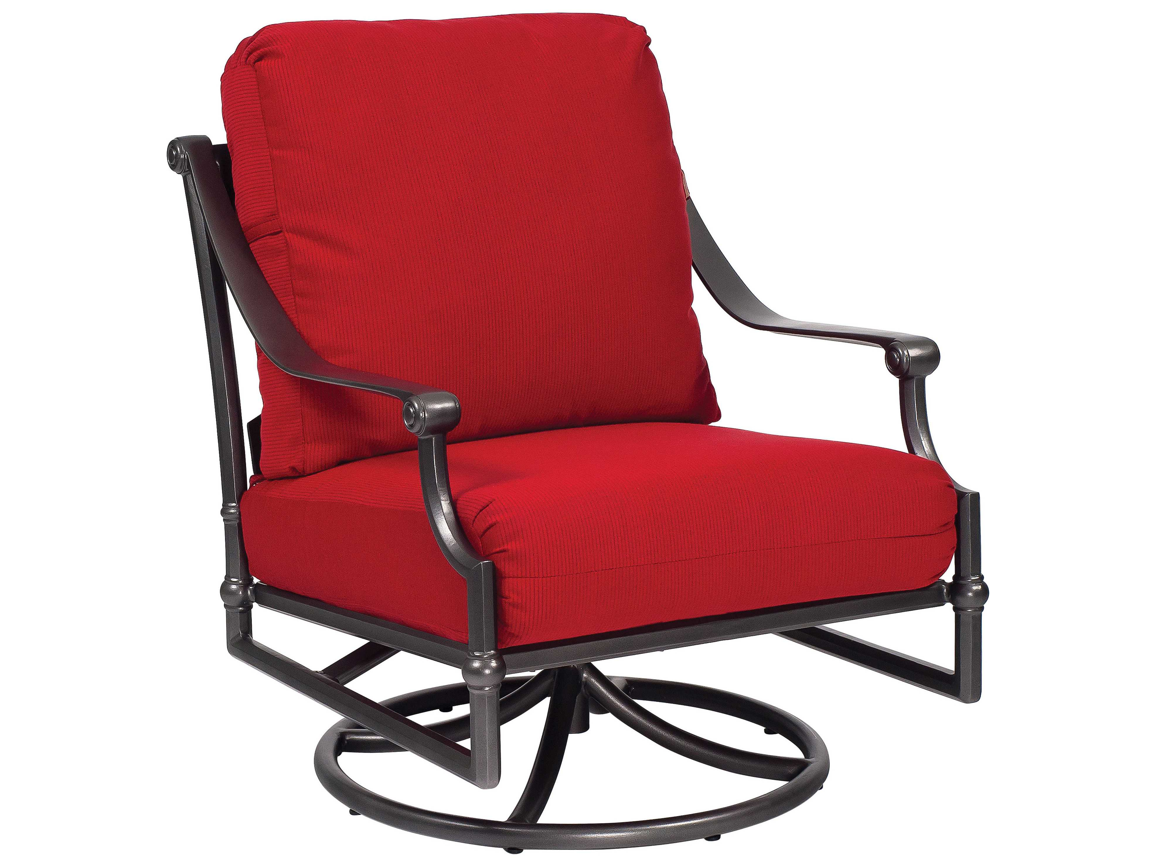 Woodard Delphi Cast Aluminum Cushion Swivel Rocking Lounge