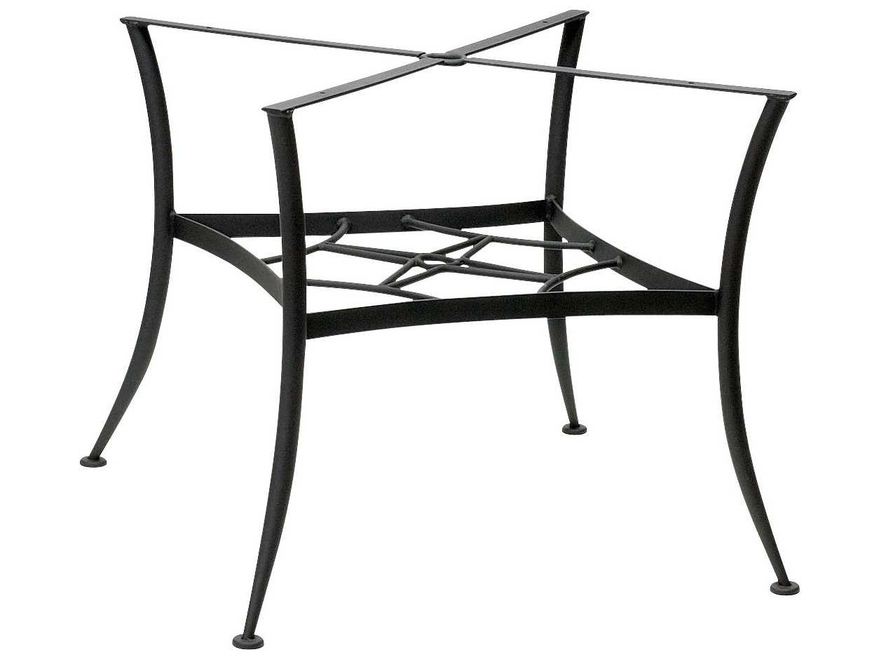 woodard universal wrought iron dining table base only 885400. Black Bedroom Furniture Sets. Home Design Ideas