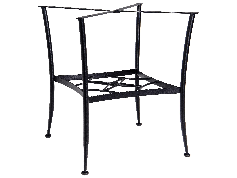 Woodard wrought iron square gathering table base 885500 for Outdoor table bases wrought iron