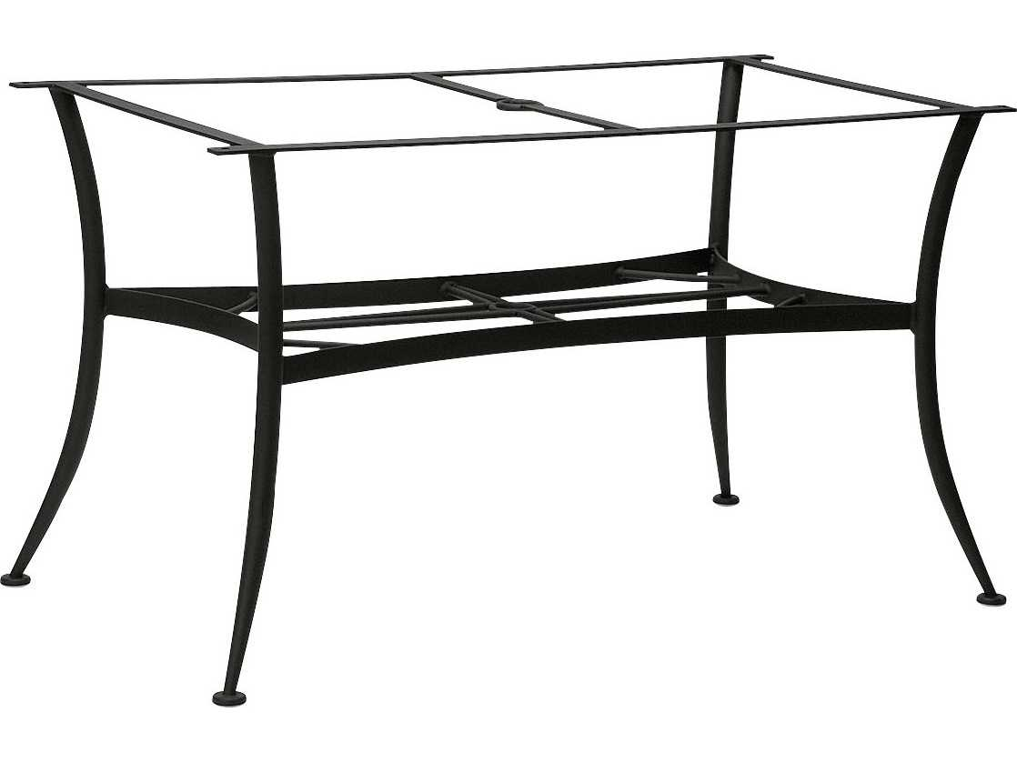 Woodard universal wrought iron large dining table base for Outdoor table bases wrought iron