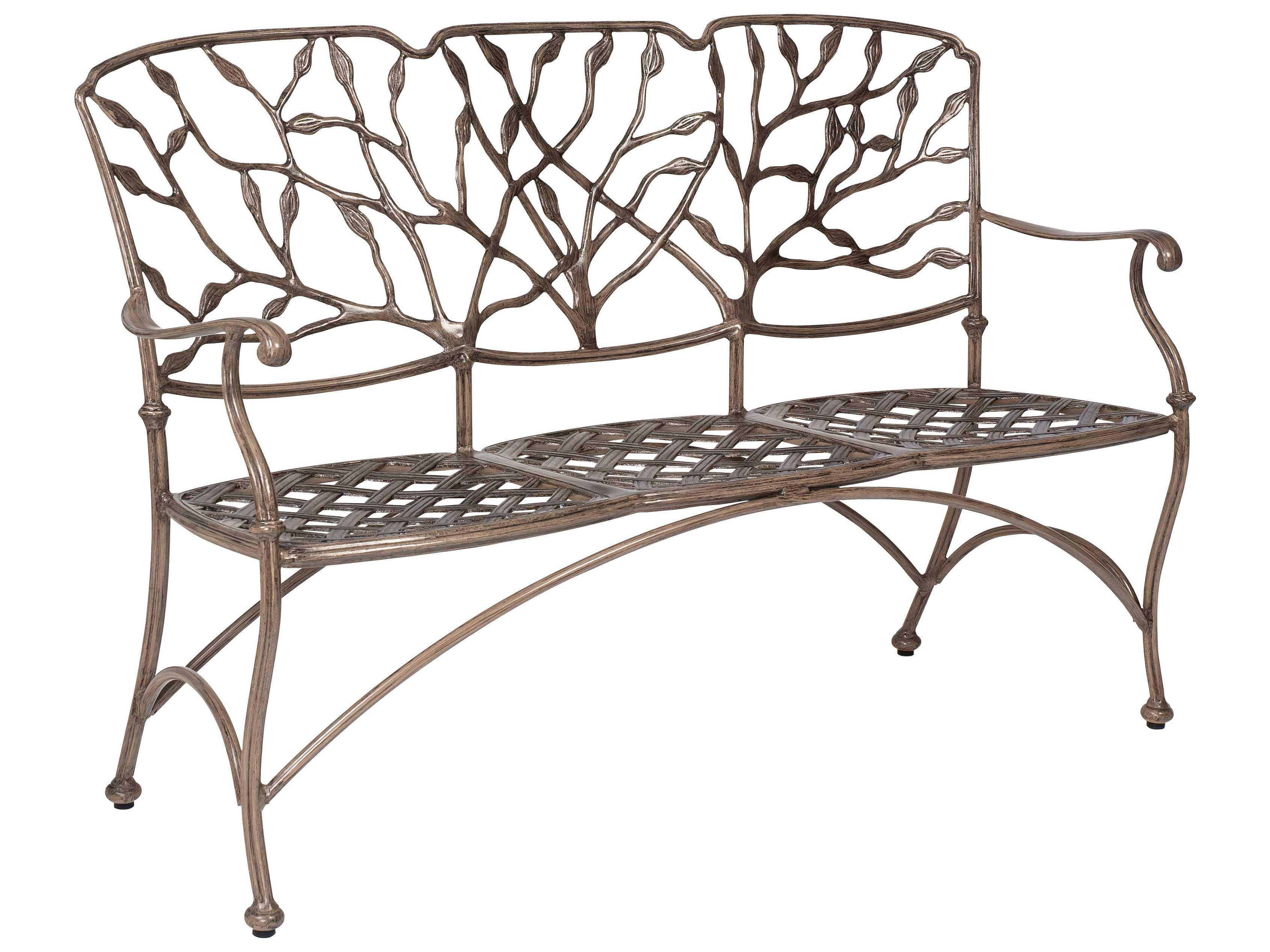 Woodard Heritage Cast Aluminum Three Seat Bench 8f0415