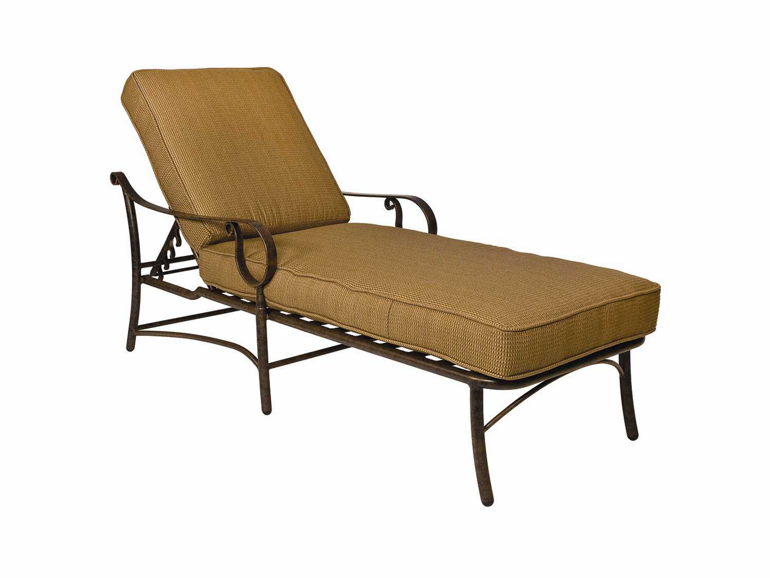 Woodard ridgecrest cushion aluminum adjustable chaise for Aluminum chaise lounges