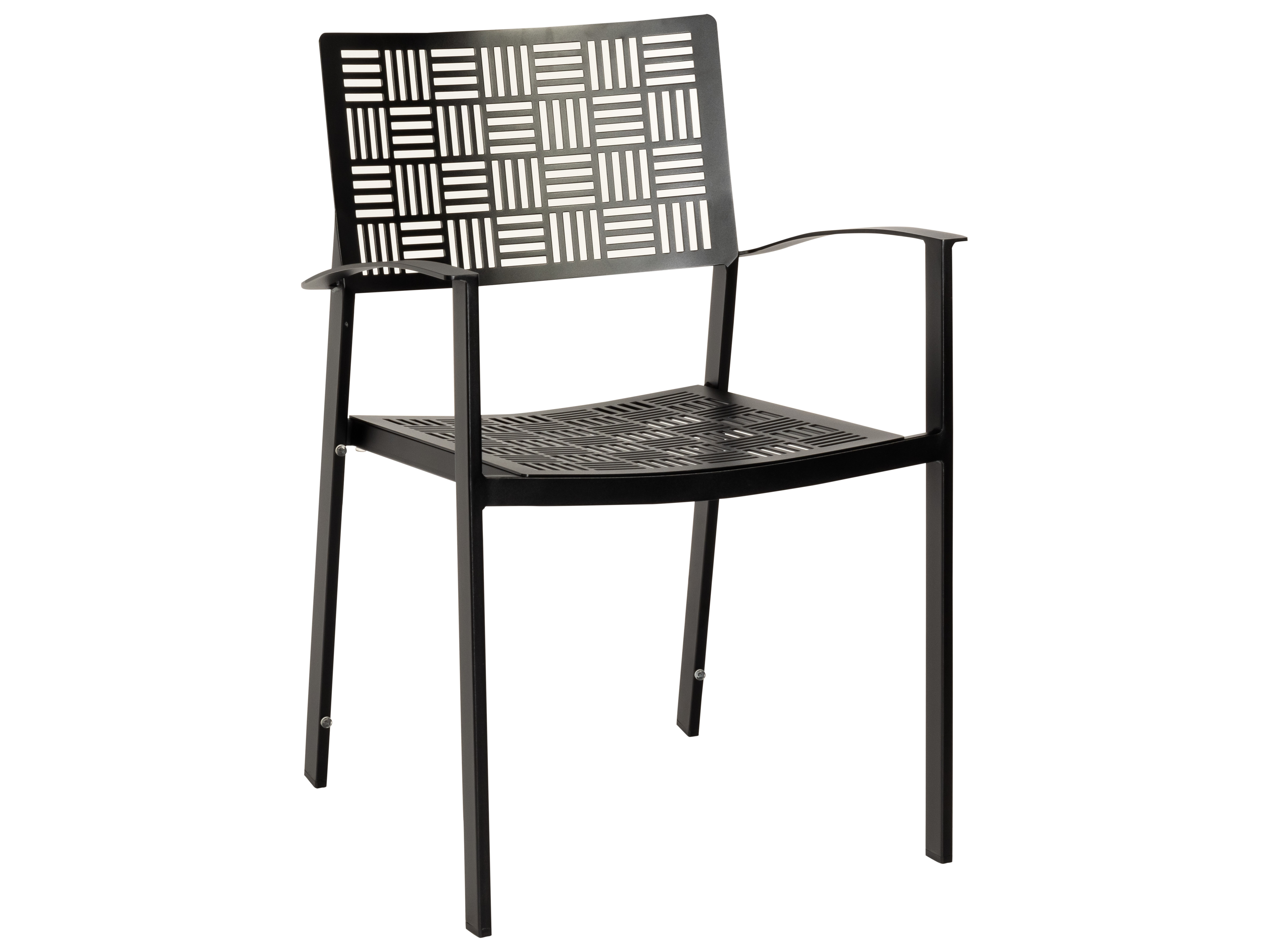 Woodard New Century Wrought Iron Dining Arm Chair Stacking