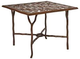 Woodard Latour Cast Aluminum 36 Square Umbrella Table