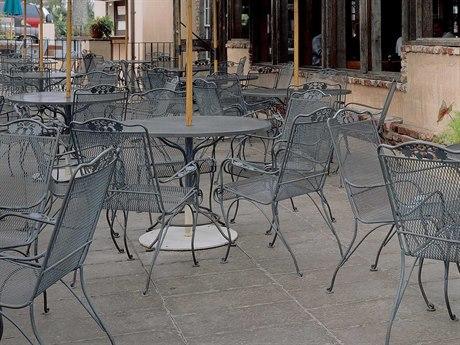 Woodard Briarwood Wrought Iron 8 or more Metal Casual Patio Dining Set