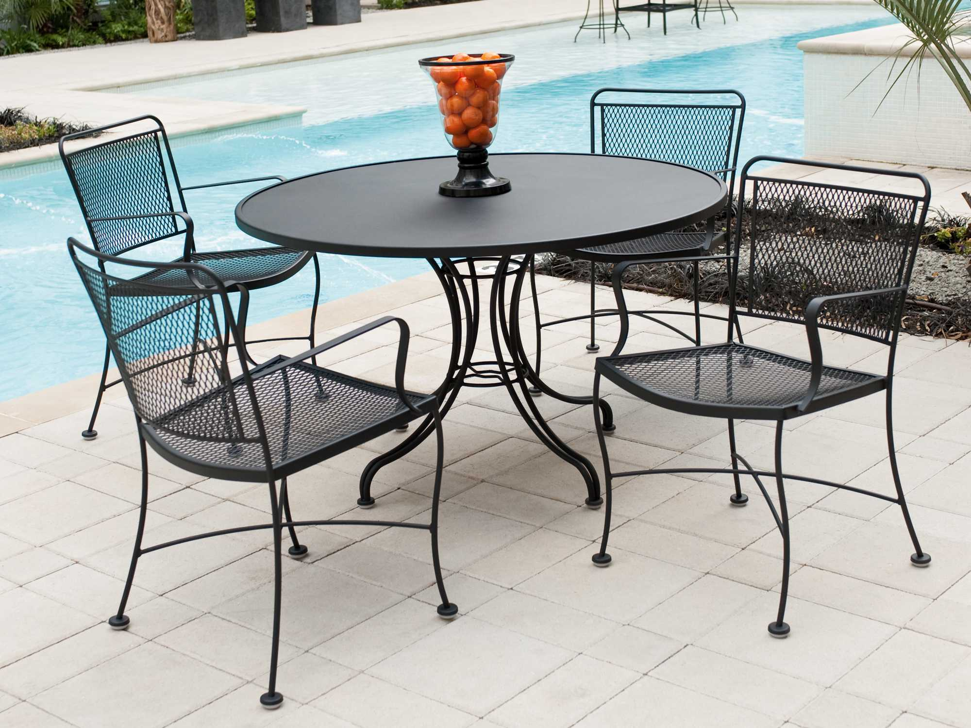 Woodard Constantine Wrought Iron Dining Set CONDS