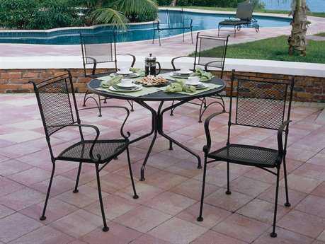 woodard bradford mesh wrought iron dining set wrgluds bradford mesh