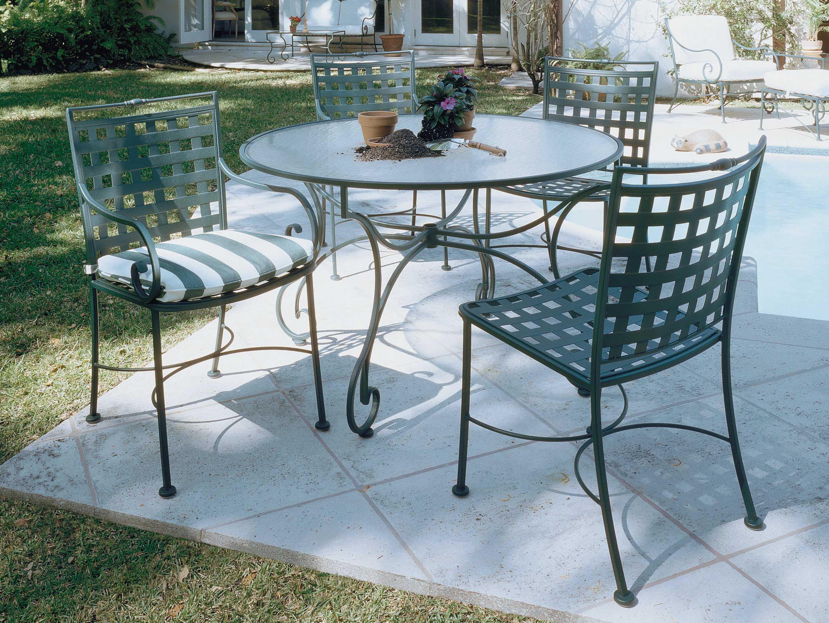 Woodard Sheffield Wrought Iron Side Dining Chair 3c0002
