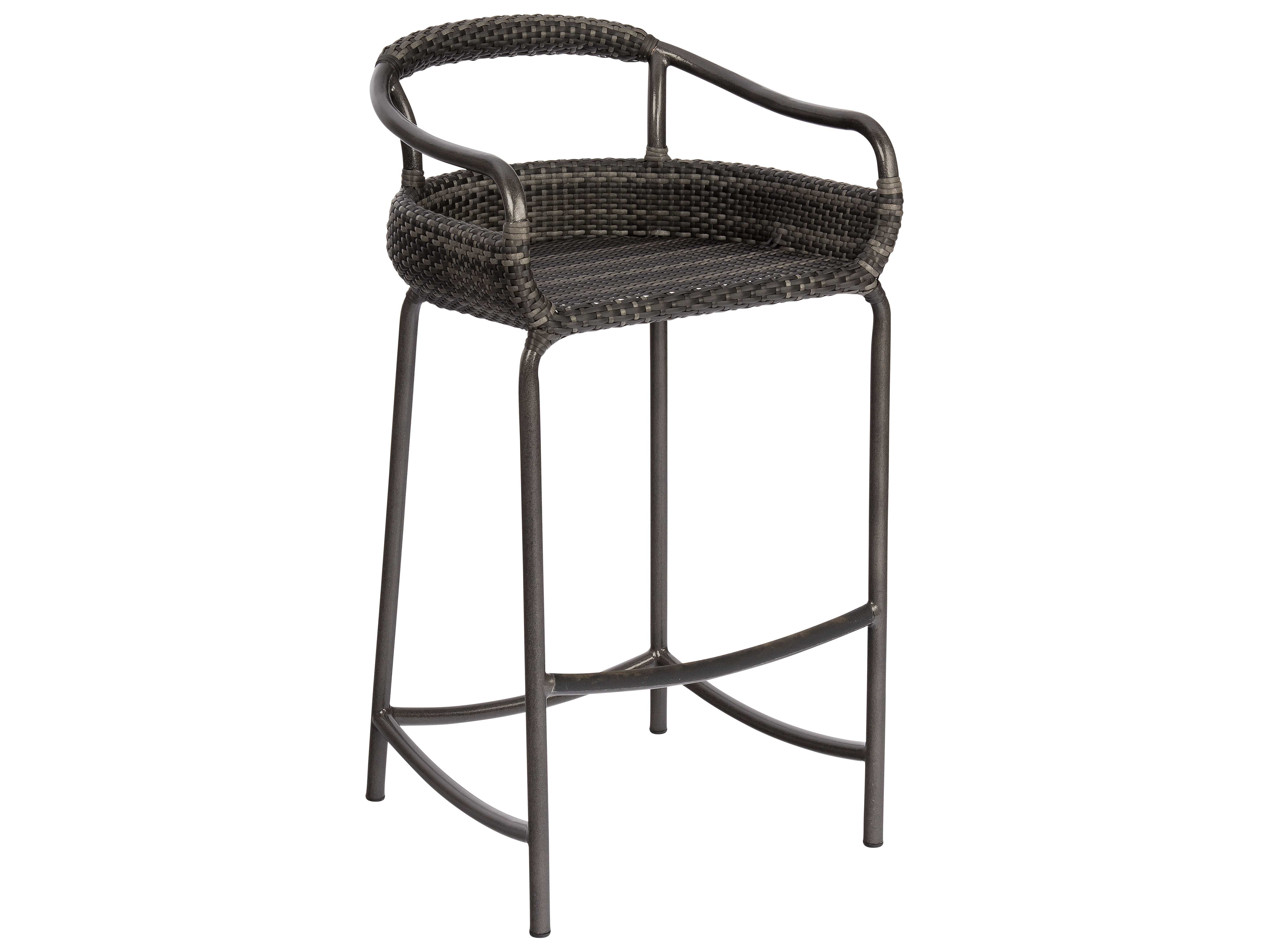 Woodard Canaveral Nelson Wicker Bar Stool S600089