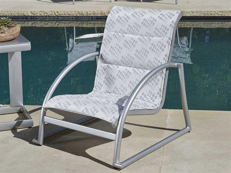 Woodard Tribeca Padded Sling Aluminum 1 Person Sling Pool Patio Lounge Set
