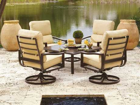 Winston Belvedere Cushion Aluminum 4 Person Cushion Conversation Patio Lounge Set