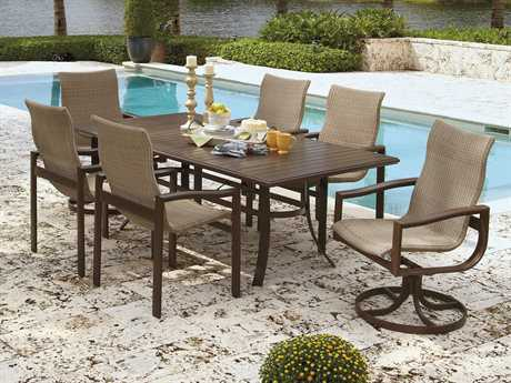 Winston Belvedere Sling Aluminum 6 Person Sling Casual Patio Dining Set