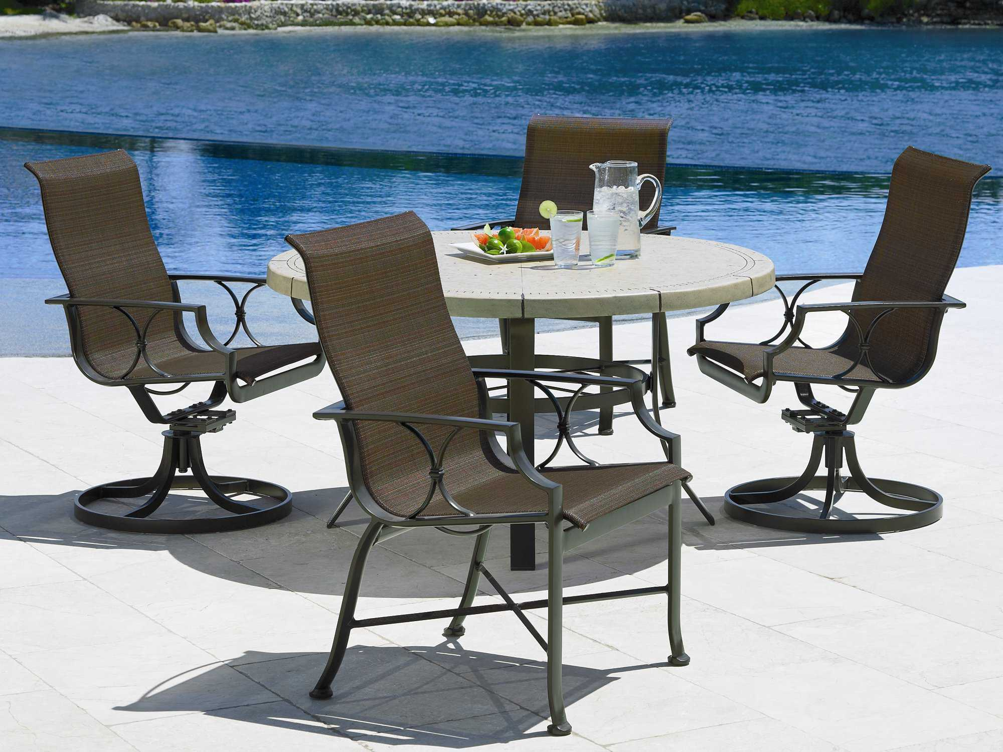 Winston Alternative Table Cast Aluminum Round Base M