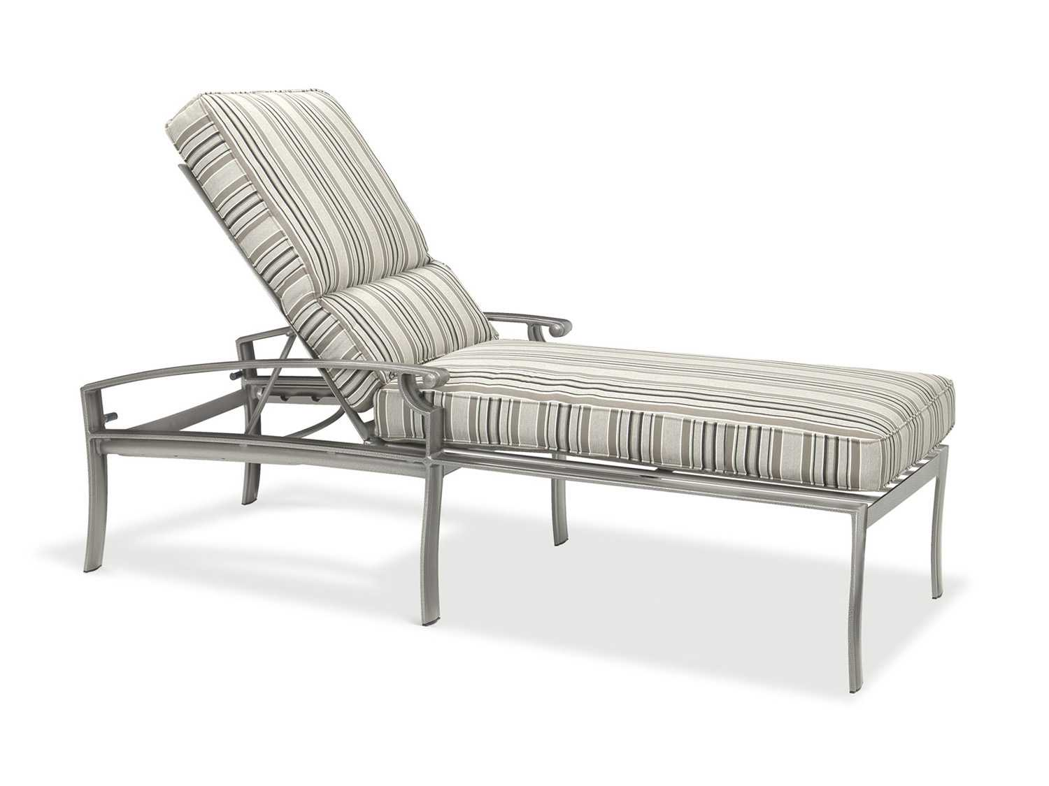 Winston sloane square cushion cast aluminum chaise j20009 for Cast aluminum chaise