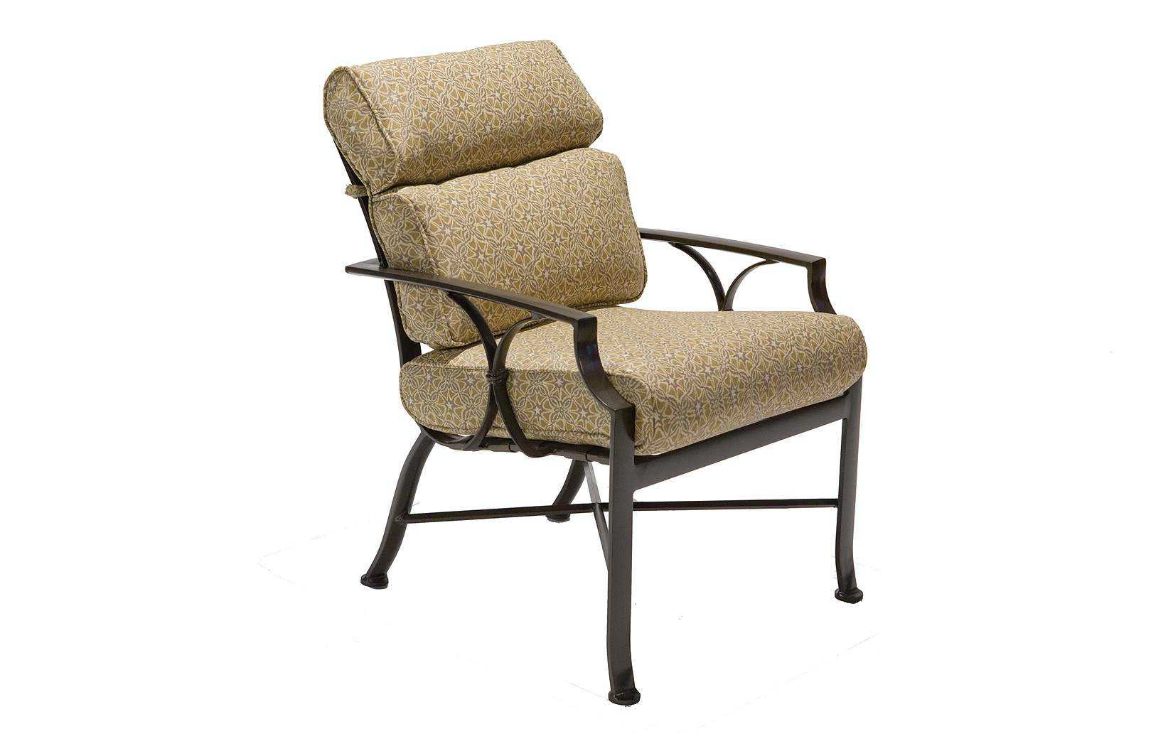 arm dining chair winston exeter aluminum cushion high back arm dining chair m