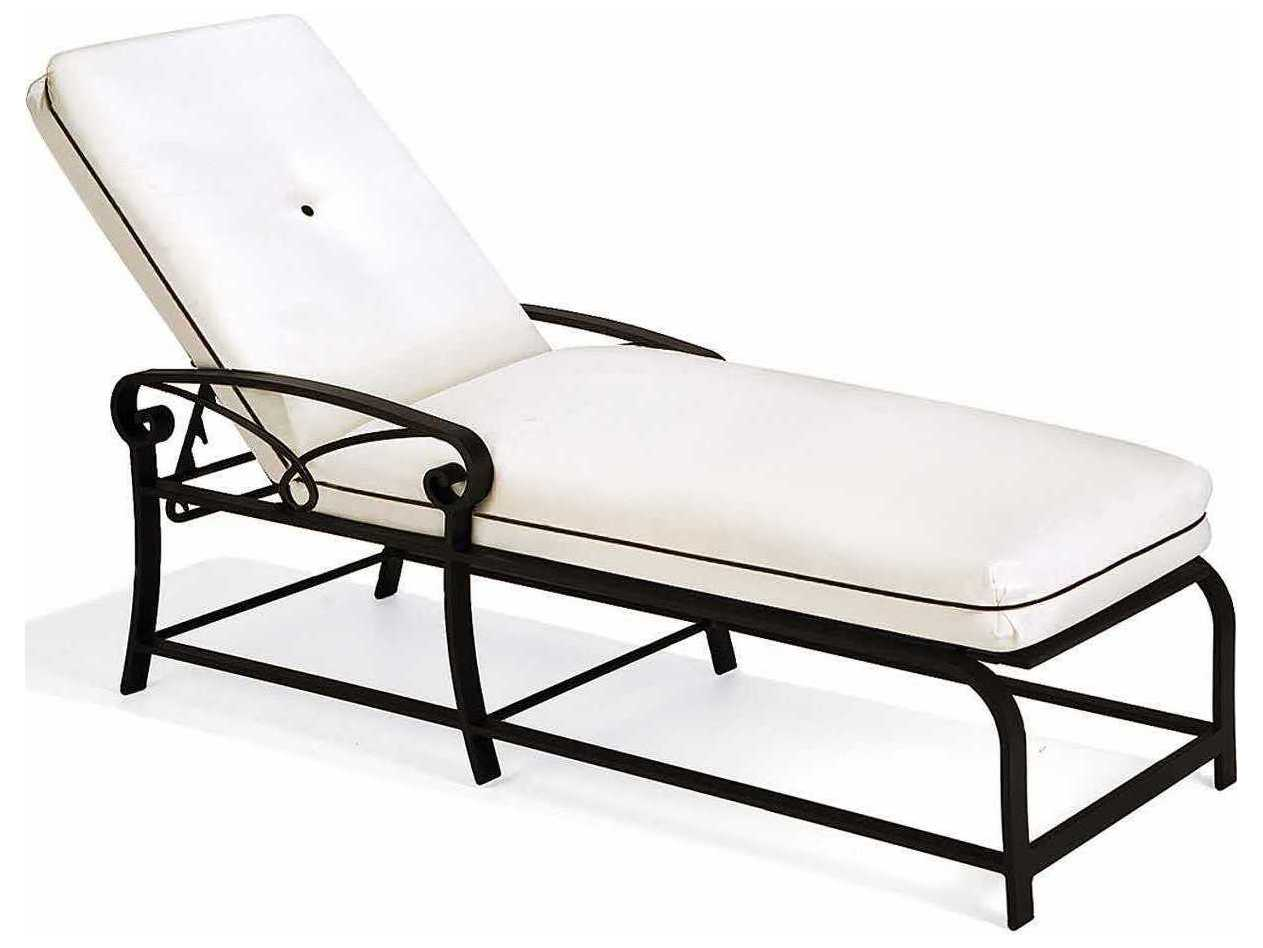 Winston palazzo cast aluminum cushion arm chaise lounge for Cast aluminum chaise lounge