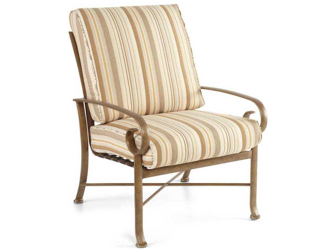 Winston Veneto Cushion Cast Aluminum Arm Lounge Chair