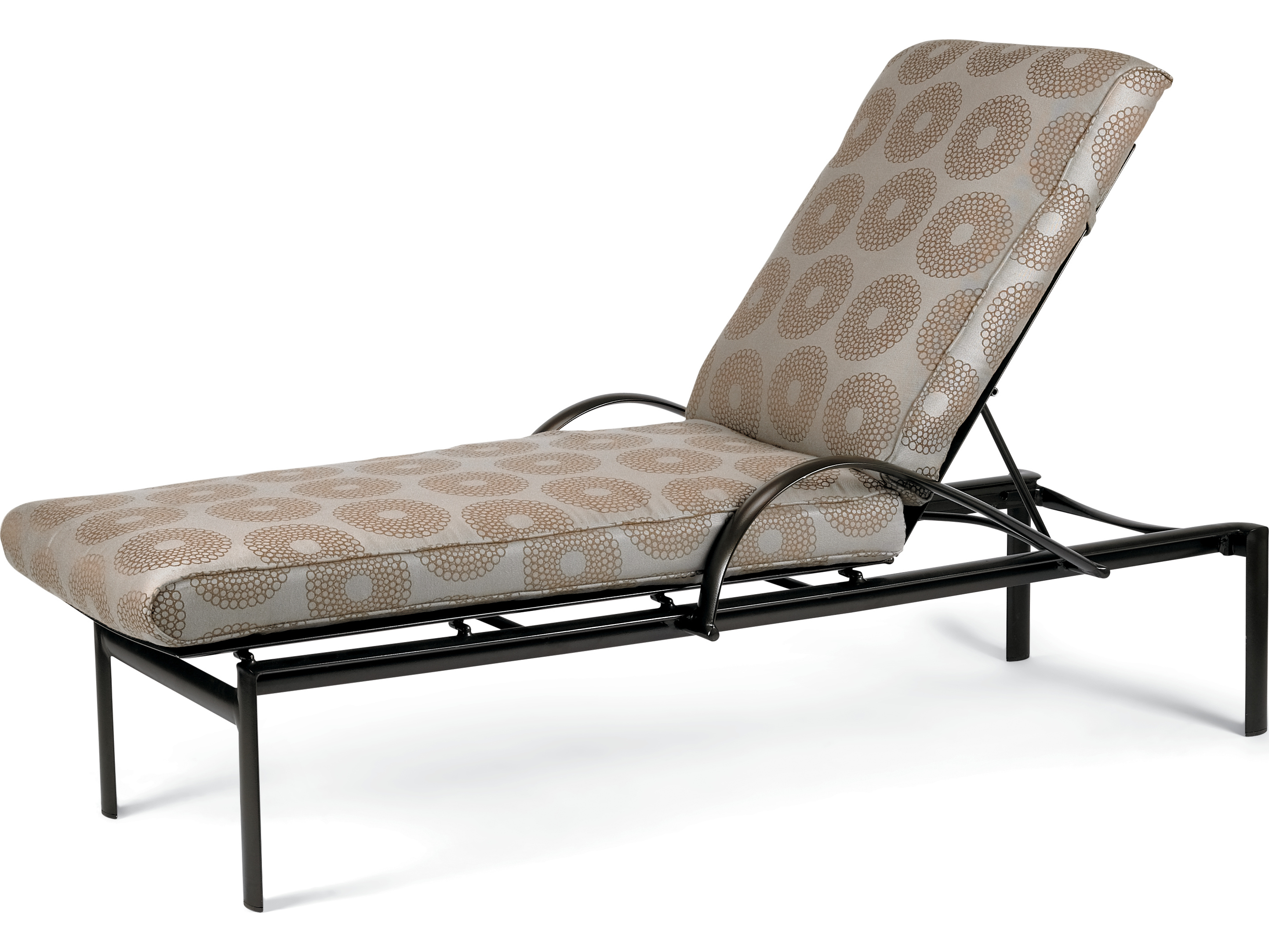 Winston southern cay cushion aluminum arm chaise lounge for Armed chaise lounge