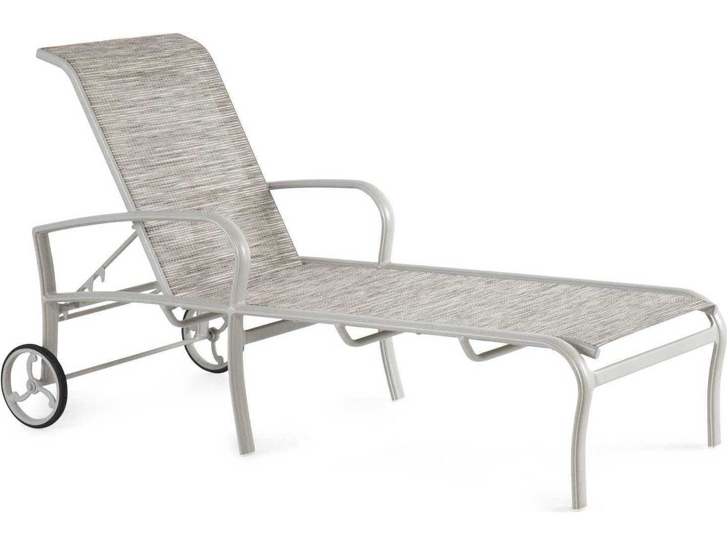Winston savoy sling aluminum arm chaise lounge m54009 for Aluminum sling chaise lounge