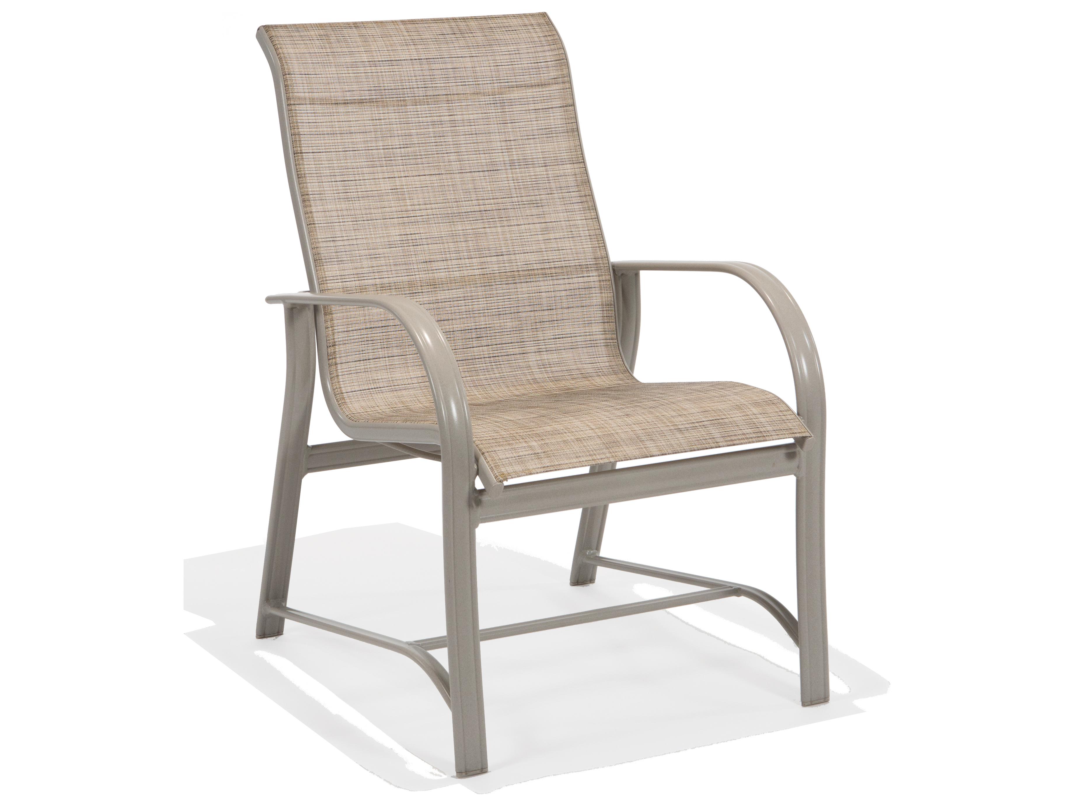 Winston Mayfair Sling Aluminum High Back Arm Dining Chair