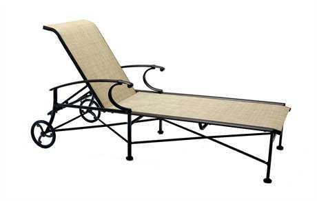 Winston Charleston Sling Cast Aluminum Arm Chaise Lounge
