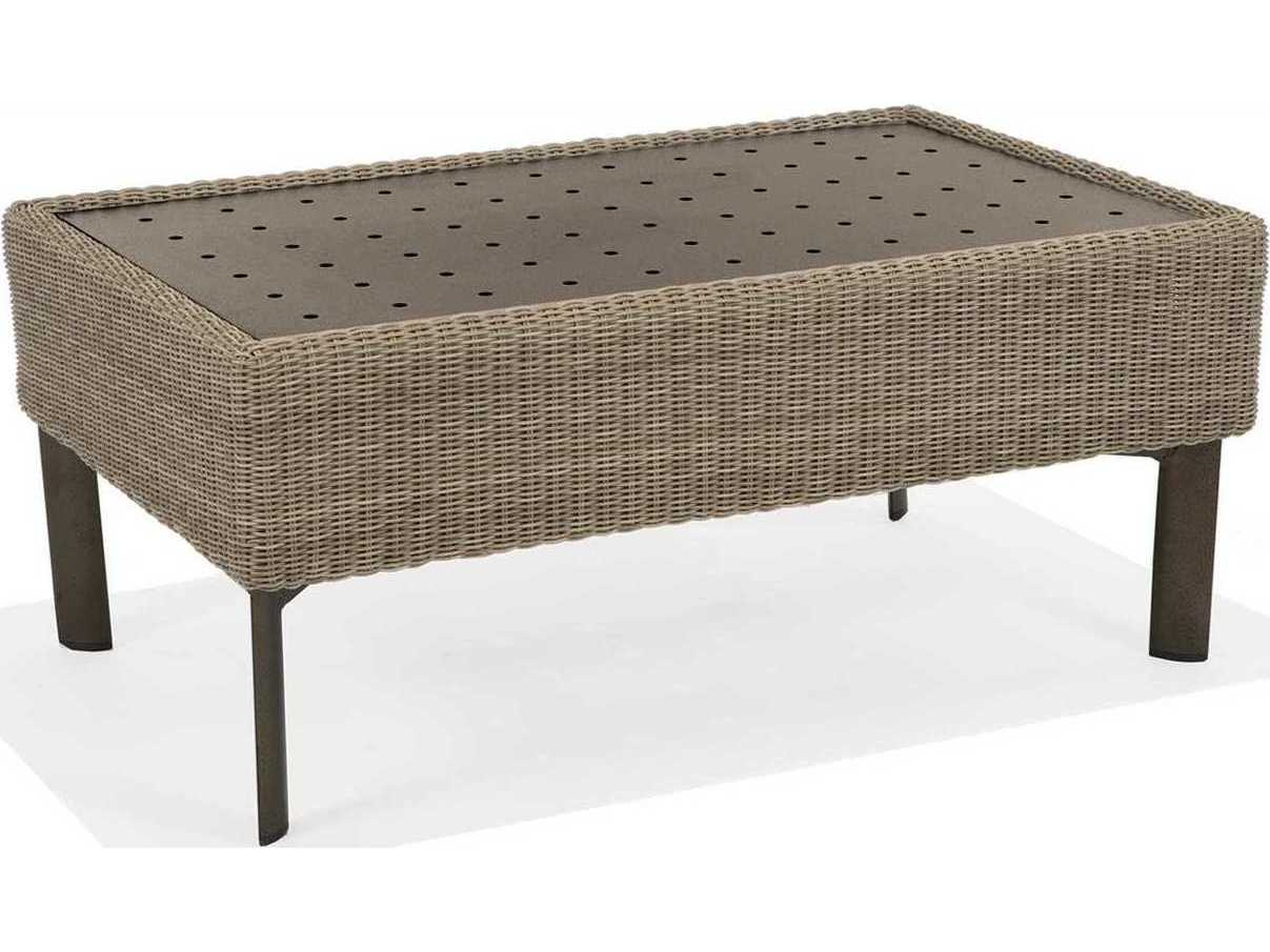 Winston banyan bay wicker 40 5 39 39 x 24 5 39 39 rectangular for Coffee table 40 x 24