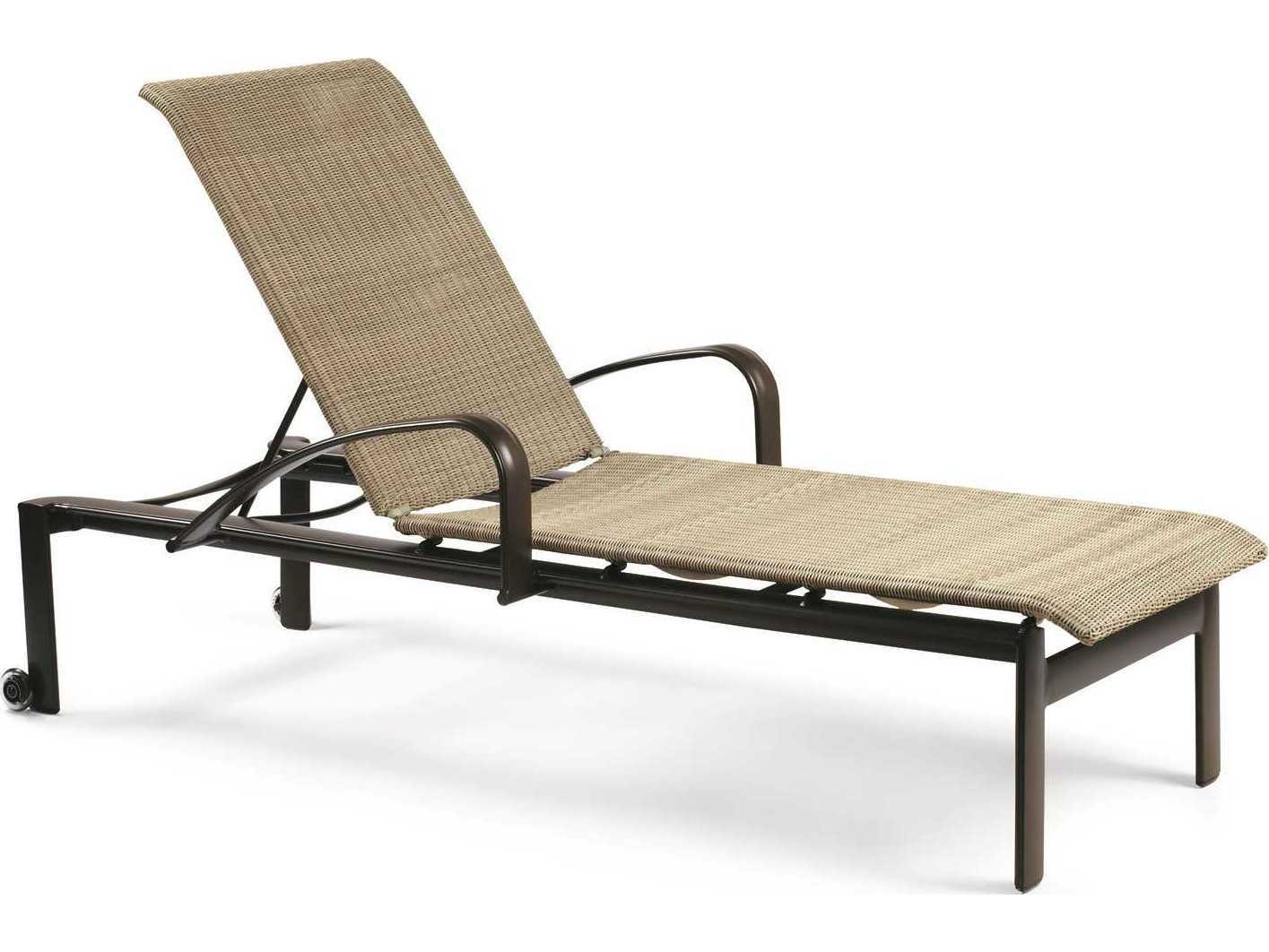 Winston Belvedere Woven Aluminum Stackable Chaise Lounge With Wheels M79009