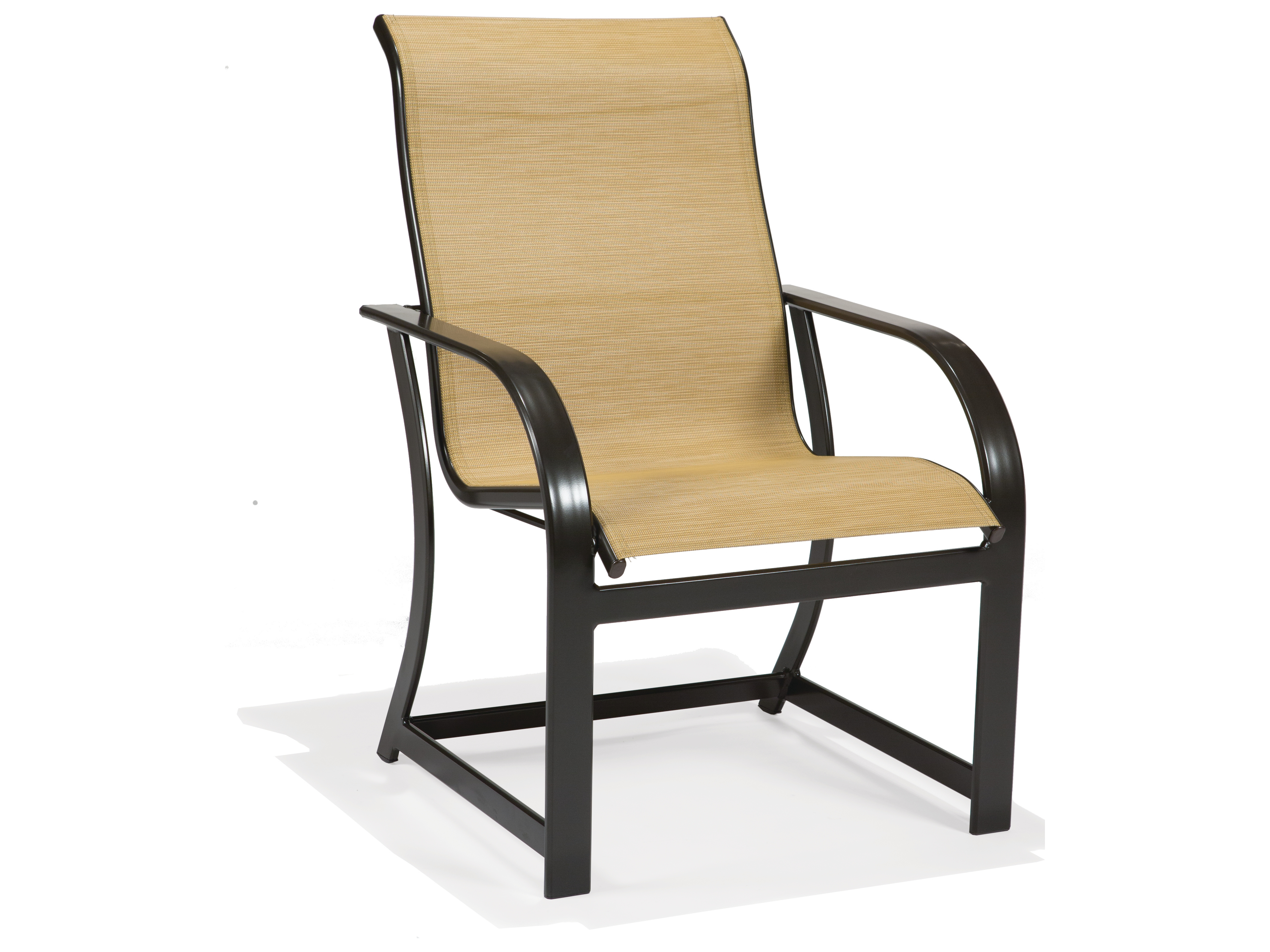 Winston key west sling aluminum high back arm dining chair for Aluminum patio chairs