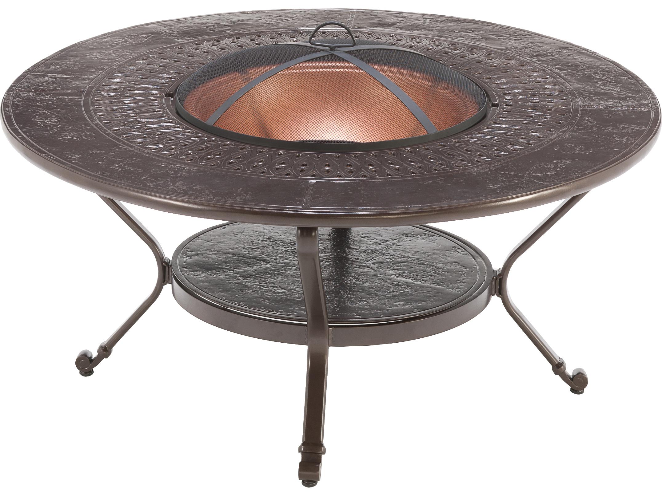 Winston Firepit Cast Aluminum 48 Round Metal Fire Pit