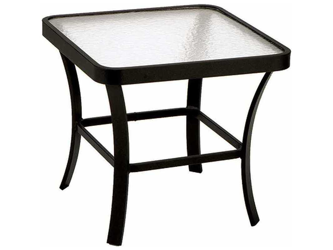 Glass Patio Table Accessories Winston Obscure Glass Aluminum 24 5 Square  End Table