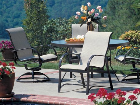 Winston Mayfair Sling Aluminum 4 Person Sling Casual Patio Dining Set