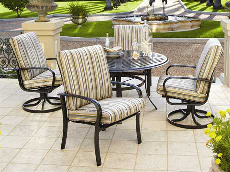 Winston Savoy Cushion Aluminum 4 Person Cushion Casual Patio Dining Set