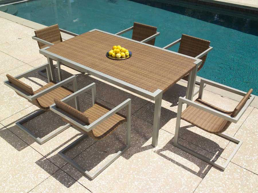 All Weather Wicker 72 X 42 Rectangular Dining Table S603702