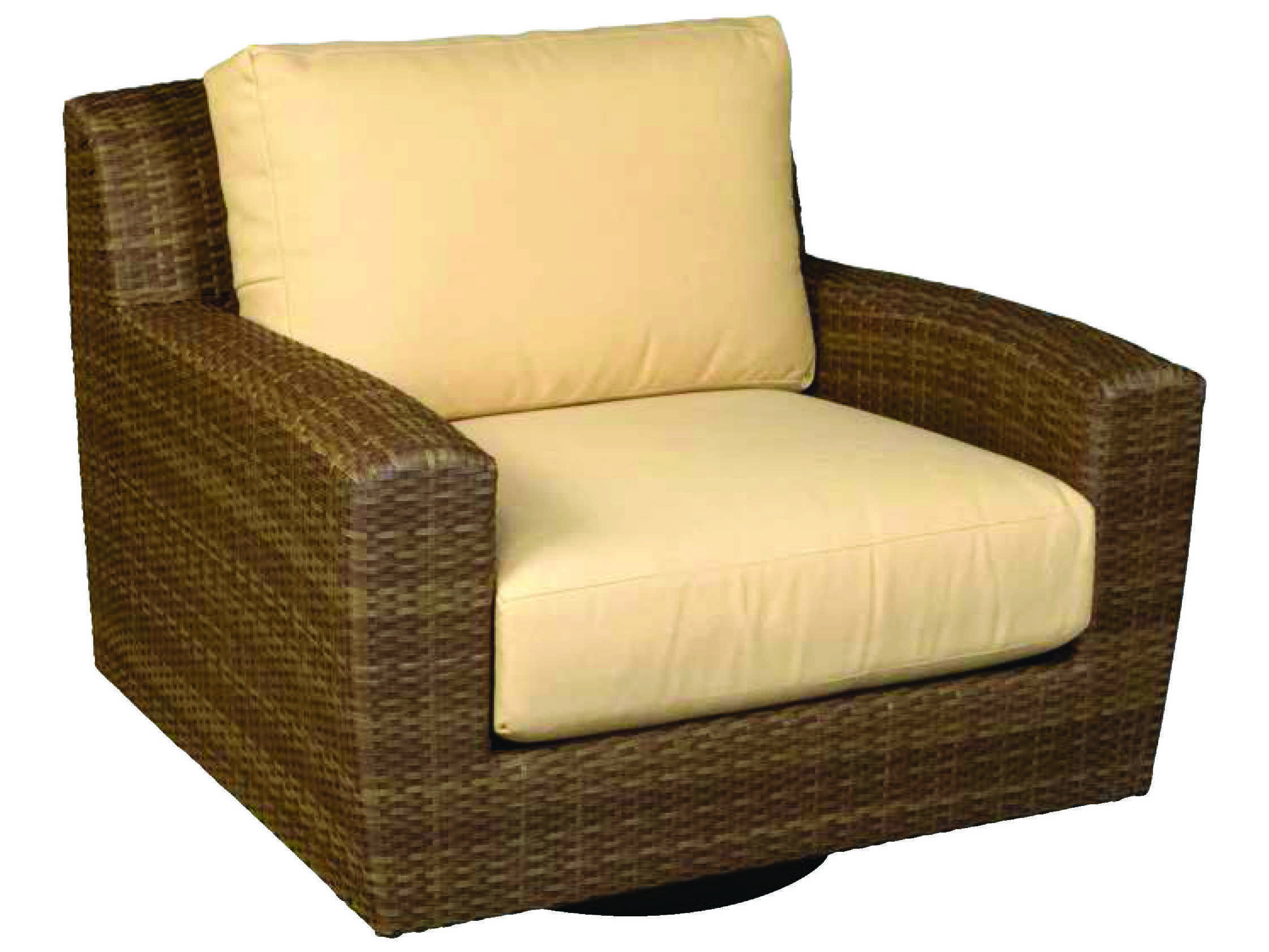 whitecraft saddleback wicker swivel lounge chair s523015