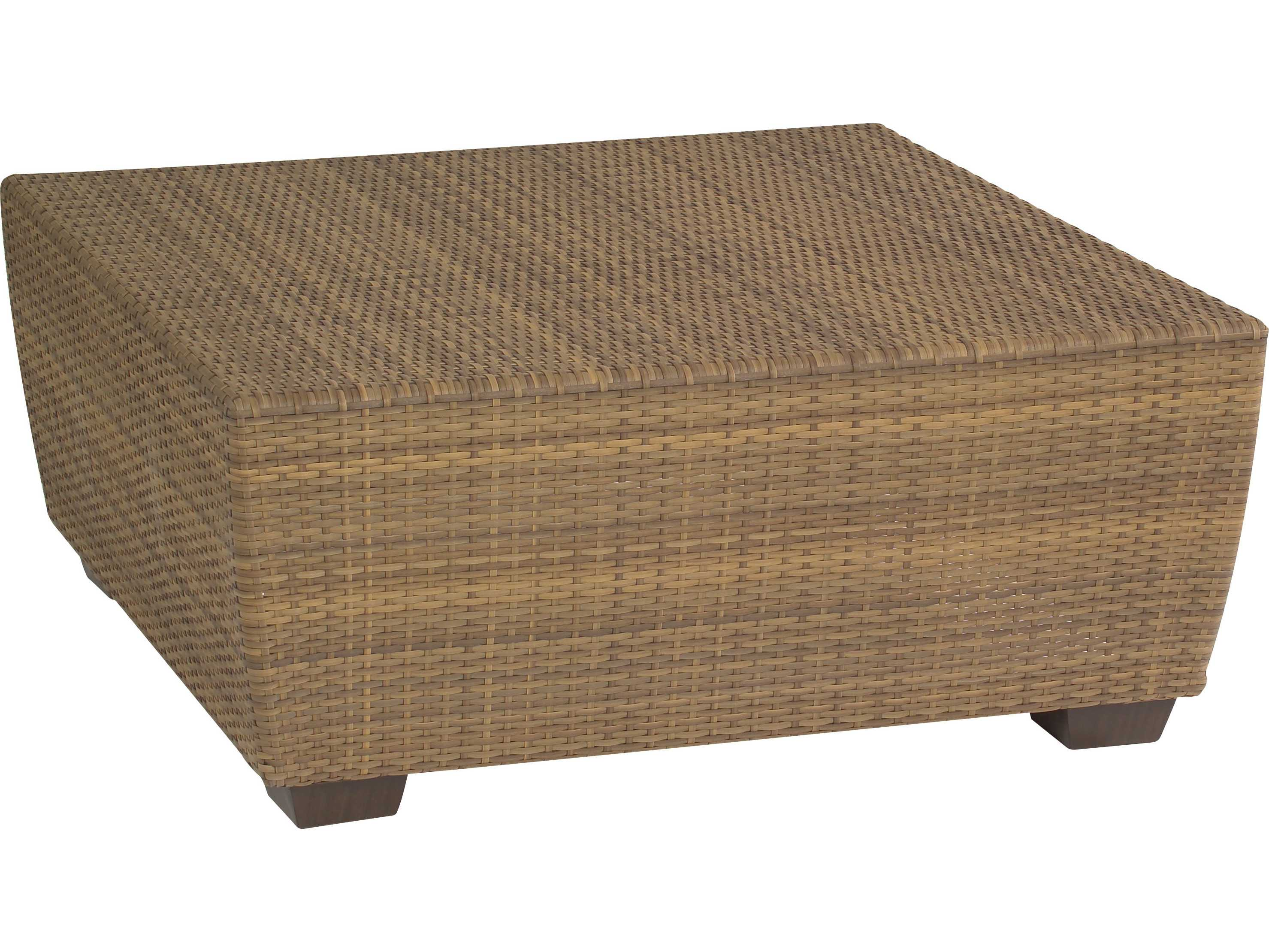 Whitecraft saddleback wicker square 42 coffee table s523211 White wicker coffee table