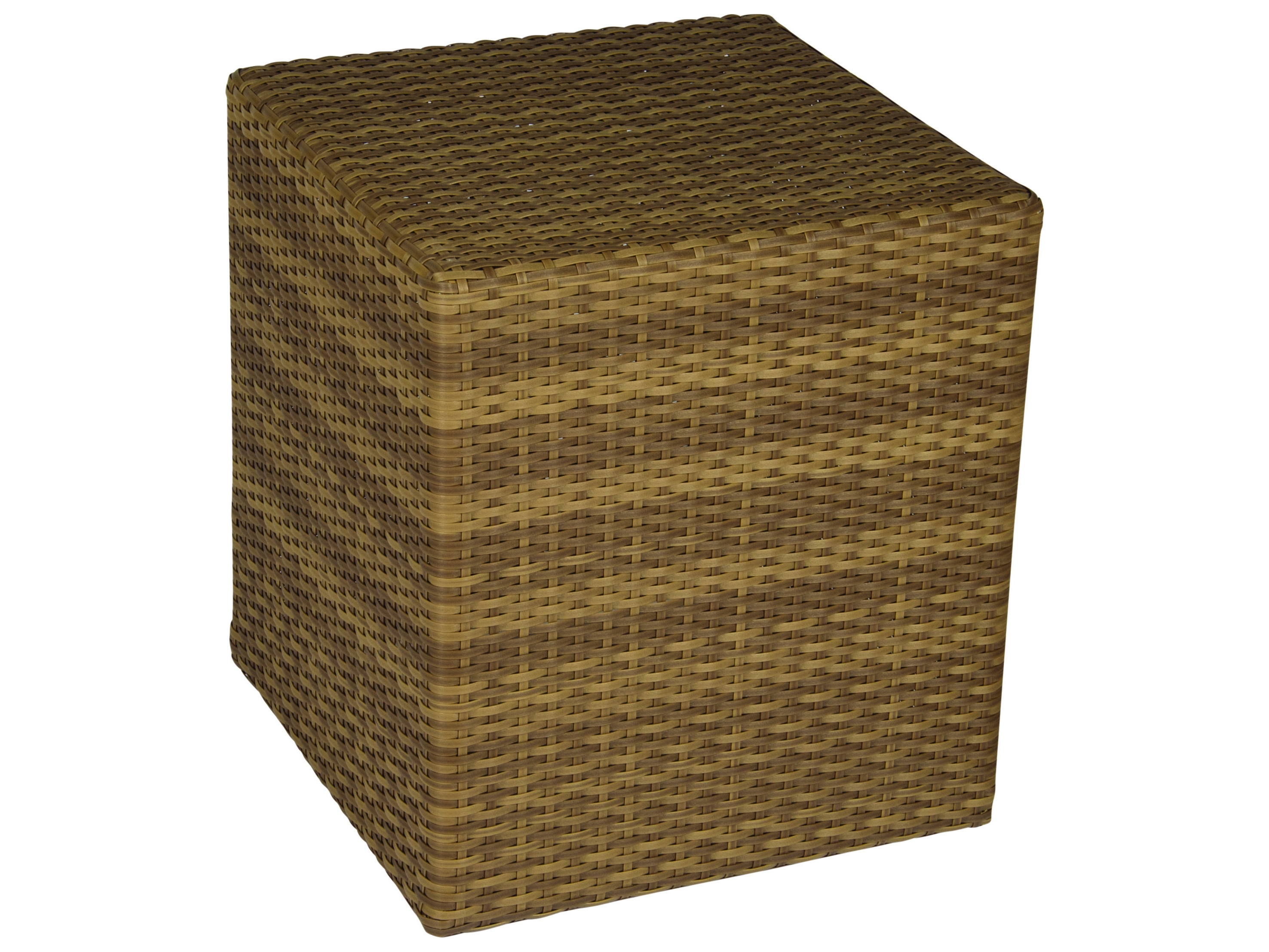 Whitecraft Saddleback Wicker Square 18 End Table