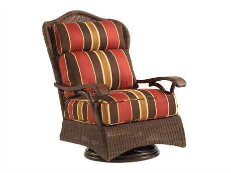 Whitecraft Chatham Run Wicker Swivel Lounge Chair