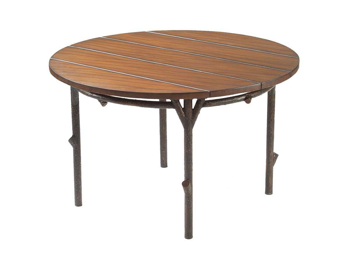 Wood Round Dining Table: Whitecraft Chatham Run 48 Round Faux Wood Top Dining Table