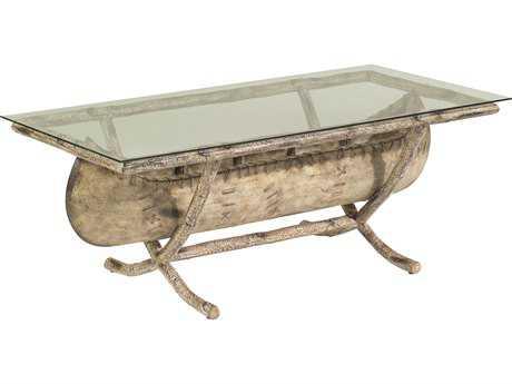 Whitecraft River Run Canoe 54 x 26 Rectangular Glass Top Coffee Table