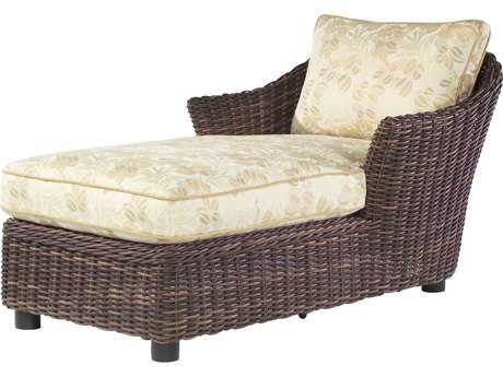 Whitecraft Sonoma Wicker Cushion Arm Chaise Lounge