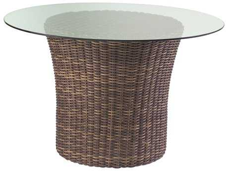 Whitecraft Sonoma Wicker 48 Round Glass Top Dining Table