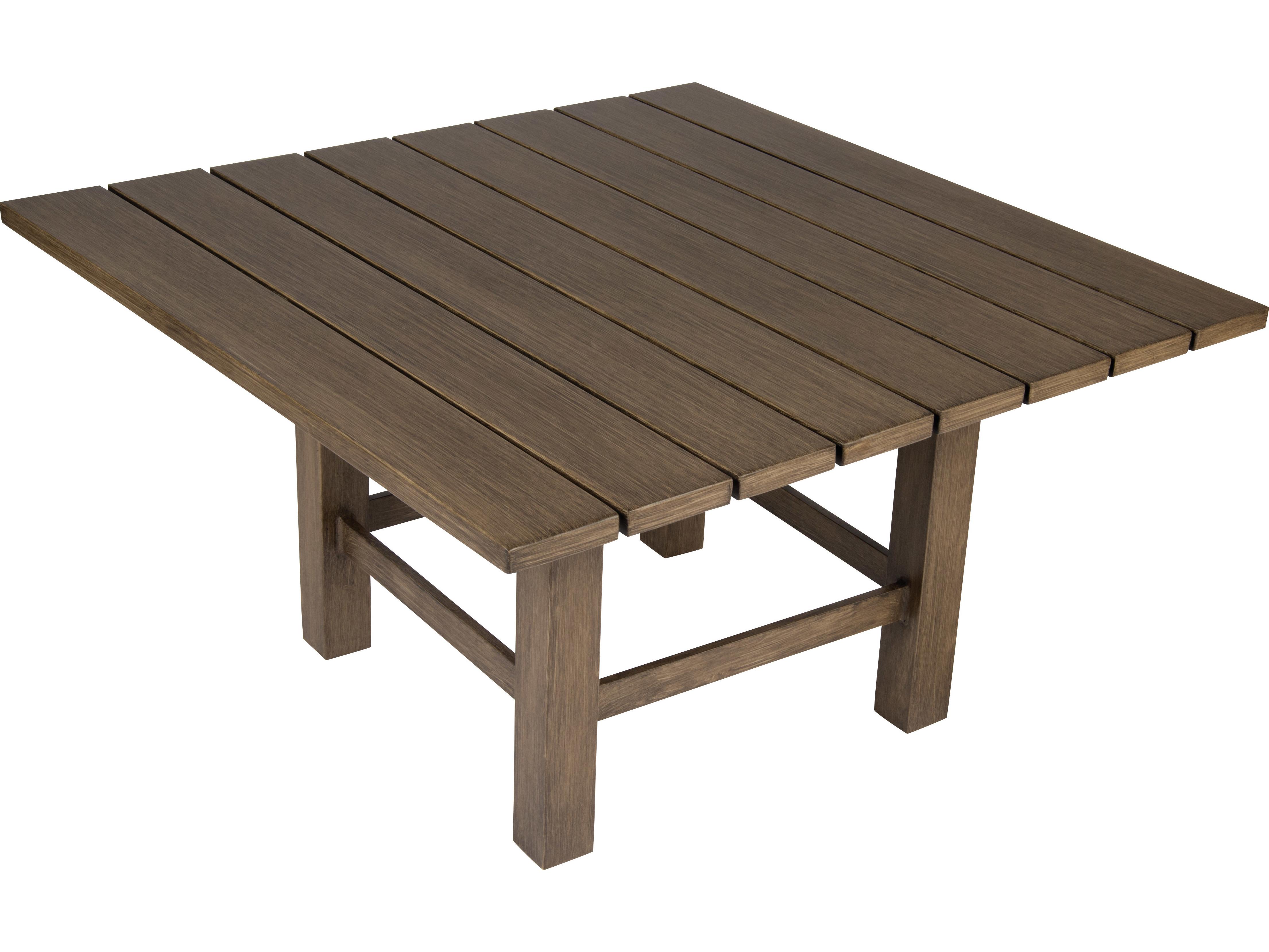 Whitecraft Augusta Aluminum Woodlands 38 Square Coffee Table S592213